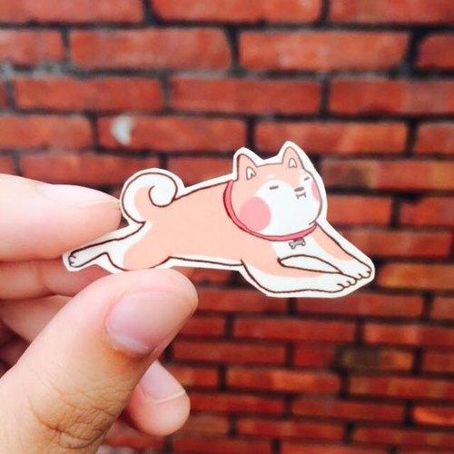 肉球柴犬 透明貼紙