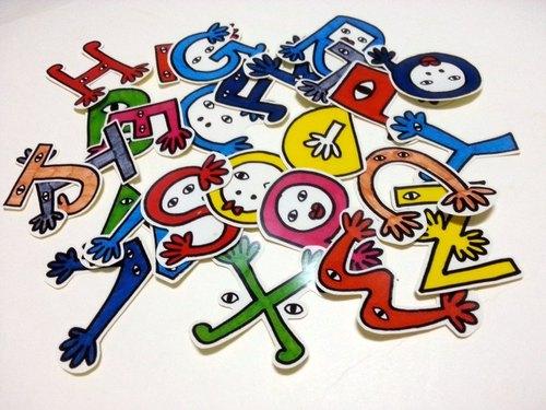 英文字母 手绘贴纸