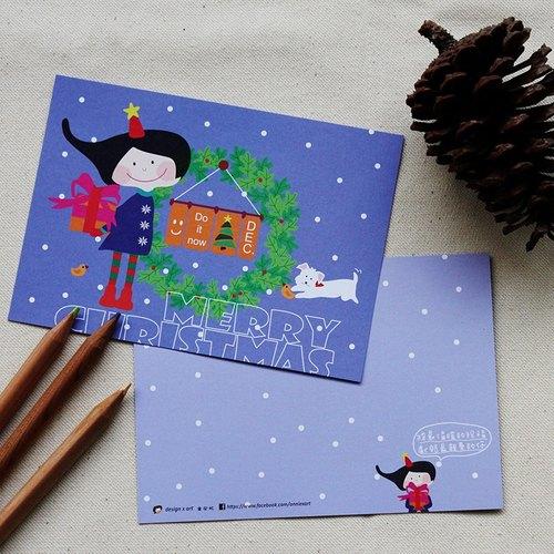 【圣诞系列】温暖的祝福◎明信片 - design x art 童