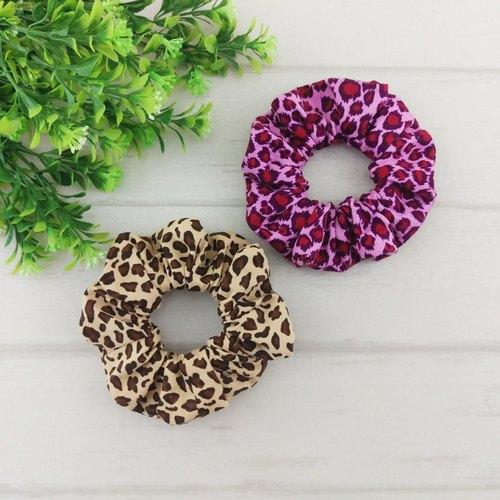 【絕對。冬】時尚焦糖豹紋。手工甜甜圈髮束 / 大腸圈 (有同款平安符袋及奶嘴鏈)