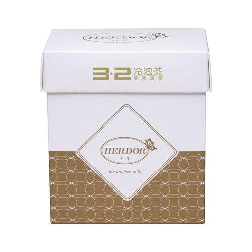 【HERDOR 冷泡茶】3‧2冷泡茶|清新烏龍 隨身分享包 (8入茶包)