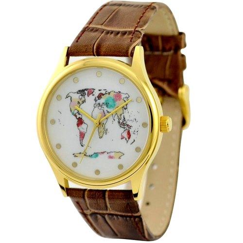 世界地圖手錶金殼