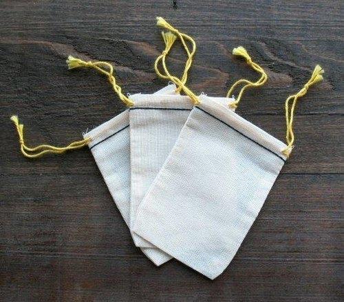 *People Tutu 自選品-素胚布 束口袋系列 (小; 5個一組)