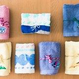 禮物組合 / 印染款毛巾1條+繡花款毛巾1條+束口袋組合 ✦