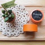maste Masking Tape 和紙膠帶 Basic 明色系【橘色條紋 (MST-MKT02-OR)】