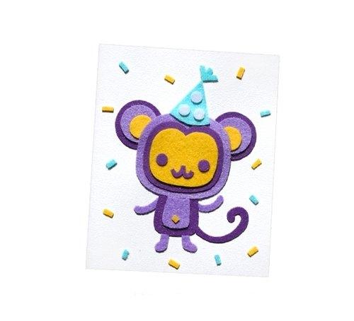手工动物卡片:猴子(生日卡,万用卡,感谢卡)