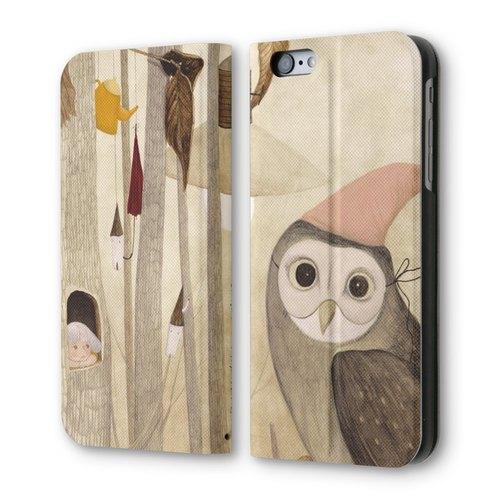 PIXOSTYLE iPhone 6/6S 翻蓋式皮套:貓頭鷹物語 PSIB6S-008