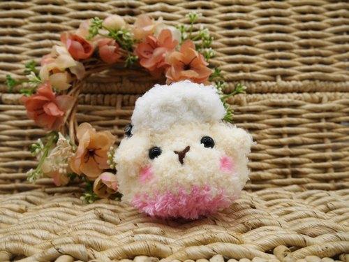 毛线编织动物零钱包 mini口金包-小羊咩咩