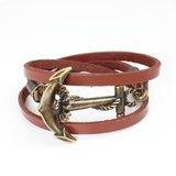 古銅船錨扣環皮繩(情人節款式)