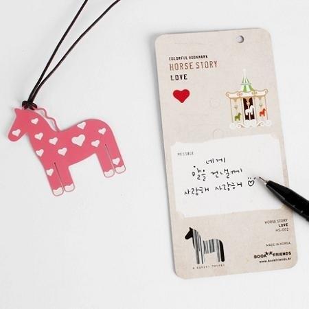 dessin x bookfriends-缤纷小马彩色造型书签-love,bzc21981图片