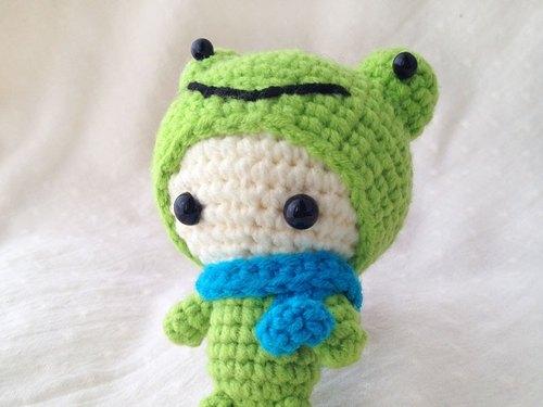 青蛙精灵-钥匙圈吊饰-手工针织 - funmay | pinkoi