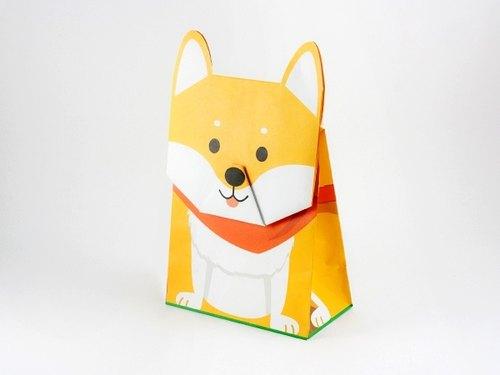 动物礼物包装纸袋--柴犬