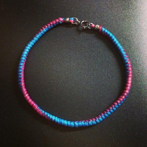 [marumaru handmade] 蠶絲蠟線手工特製手環-基本款細