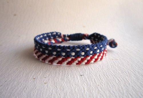 美国风 幸运绳编织手环