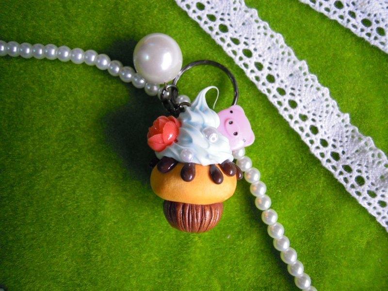 【lady park】超可爱午茶cupcake.黏土手工.蓝莓小猪红玫瑰杯子蛋糕