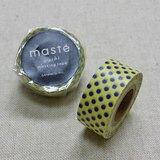 日本 maste 和紙膠帶 Basic 限定系列【水玉點點/淺黃 (MST-MKT40-LYE)】