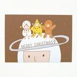 宇宙聖誕夜明信片