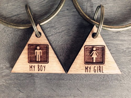 【MY BOY / MY GIRL - 你是我的♥我是你的 - 設計款宣示主權鑰匙圈】