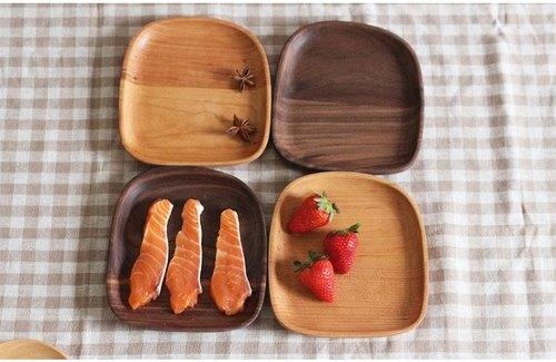 熹山工房-实木头砧板,水果盘,点心盘,甜点盘-馒头圆型造型小果盘(樱桃