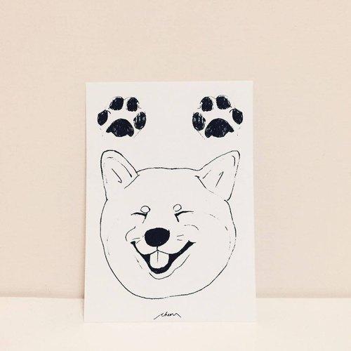 笑颜柴犬 手绘明信片 - 柴犬的日常系列