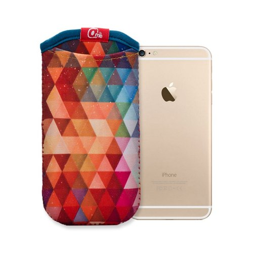 iphone 直立手机套.几何系列(炫彩)