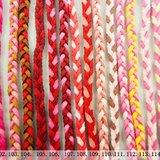 god leading手作-【質感】3古編-皮繩手環- 紅色 黃色 橘色 粉色 女