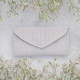 南庭系列包/手拿皮夾包(白灰色)。手拿包。皮夾