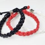 皮繩編織-紅/黑/2白