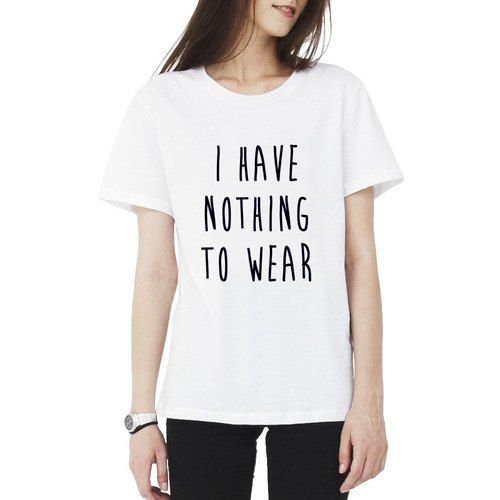 I Have Nothing To Wear Girls T Shirt 2 Color No Clothes
