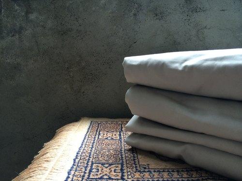 All About Us那些關於我們的有機棉單人床包 (亞麻灰棕色)