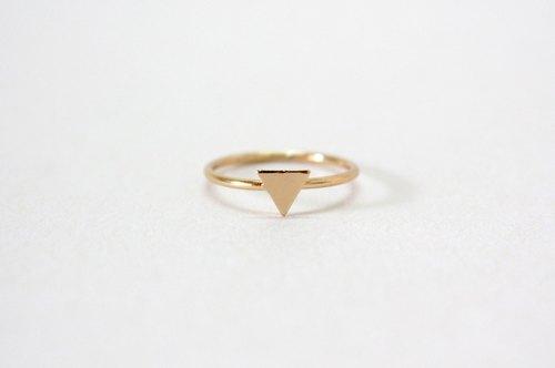 金色三角形小号戒指