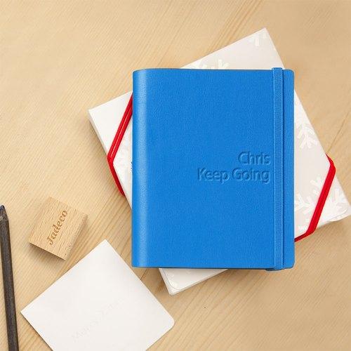 jadeco│圣诞礼盒 a6空白内页笔记本 - 客制蓝