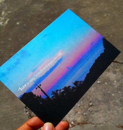 深呼吸,享受你的生活(山景) 明信片