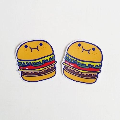1212玩樂設計 逗趣到處貼 防水貼紙-好吃漢堡包