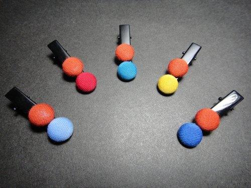 (C) 橘橙mm巧克力_布製鈕釦鴨嘴短夾 C20AMBZ91