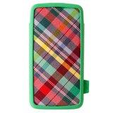 Vacii Haute 5-inch phone Case - Plaid Green