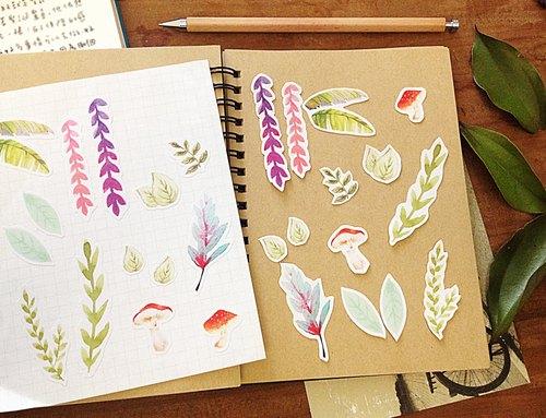 南方植物园 / 手绘风插画手帐贴纸_一组