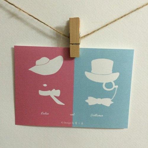 《藝之魚》Ladies and Gentleman 卡片 明信片 --C0014