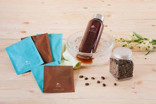【KOFEEL】璞系列茶袋式咖啡袖珍盒+KOFEEL時尚玻璃瓶組-台灣阿里山咖啡豆新鮮研磨
