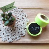 maste Masking Tape 和紙膠帶 Basic 亮眼螢光系【螢光黃 (MST-MKT07-YE)】