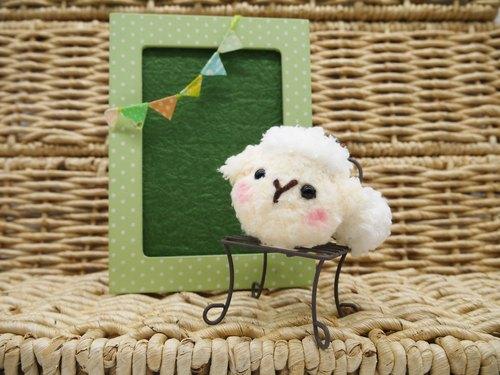 毛线编织软绵绵发束-小羊咩咩 - 小王子的棉花城堡