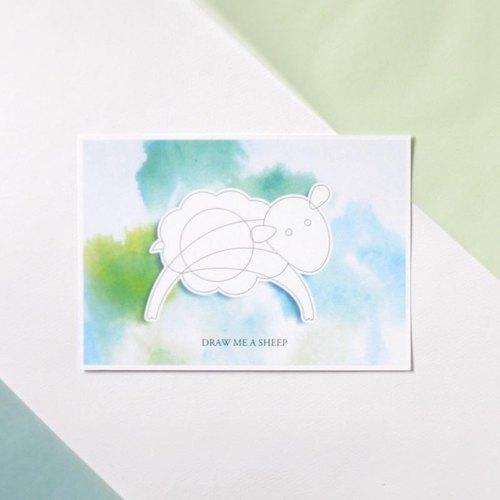 圣诞节-diy涂色圣诞明信片-小王子系列之小羊