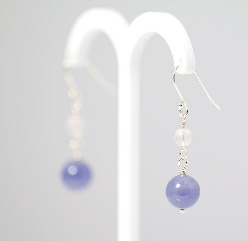 【ColorDay】母親節好禮!!!  夢幻丹泉石〈Tanzanite〉純銀耳環