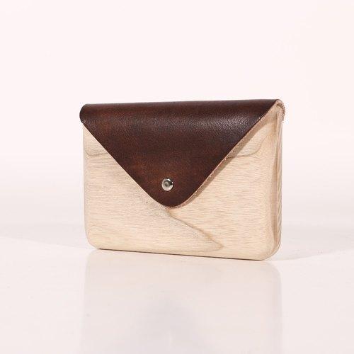 手造木制名片盒 /木皮包