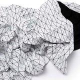 Folding A-Part blanket white & amp; Black