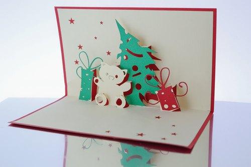 如何做立体的圣诞贺卡,要参加比赛的!