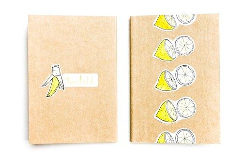 手工笔记本手帐 可爱贴纸水果系