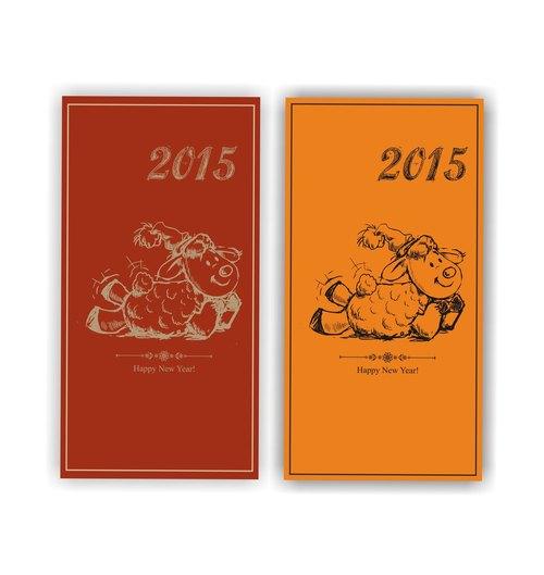 羊羊得意好过年-手绘风可爱小绵羊精制红包袋订制款(100pcs)