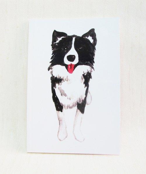 小狗 边境牧羊犬 手绘笔记本 水彩 a5