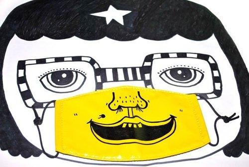 k82废物奶泡/手绘好机车口罩/我很丑可是我很温柔